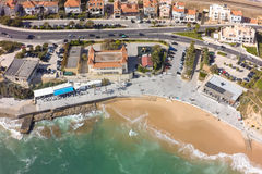 Aerial view of Estoril coastline near Lisbon in Portugal Royalty Free Stock Photography