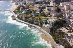 Aerial view of Estoril coastline near Lisbon in Portugal Stock Photo