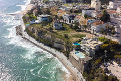 Aerial view of Estoril coastline near Lisbon in Portugal Royalty Free Stock Photos