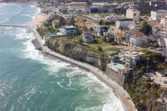 Aerial view of Estoril coastline near Lisbon in Portugal Stock Photo