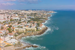 Aerial view of Estoril coastline near Lisbon in Portugal Royalty Free Stock Image
