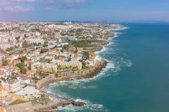 Aerial view of Estoril coastline near Lisbon in Portugal Royalty Free Stock Image