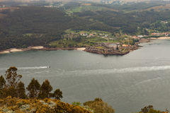 Aerial view of a estuary of Spanish coast Stock Images