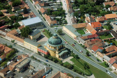 Aerial View of Esztergom. Hungary Royalty Free Stock Photo
