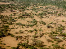 Aerial view of Ethiopia Stock Photography