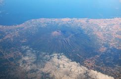 Aerial view of etna volcano royalty free stock photo