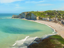 Aerial view of the Etretat, France Royalty Free Stock Image