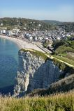 Aerial view of Etretat in France Stock Photo
