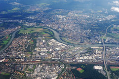 Aerial view europe city Royalty Free Stock Photo