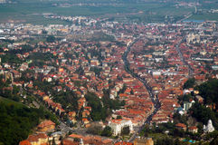 Aerial view of the European city of Brasov, Romania Stock Image