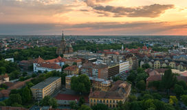 Aerial view of european city skyline Royalty Free Stock Photography