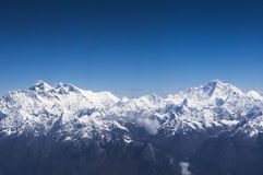 Aerial view of Everest and Makalu Royalty Free Stock Photos