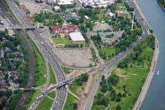 Aerial view of the expressway Stock Images