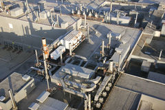 Aerial view of factory Royalty Free Stock Image