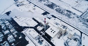 Aerial view of a factory