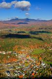 Aerial view of fall foliage in Stowe, Vermont Stock Photography