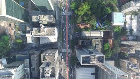 Aerial View of the famous Avenida Paulista Paulista Avenue in Sao Paulo, Brazil - Top View