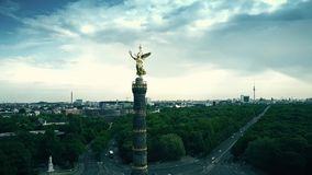 Aerial view of famous Berlin Victory Column and cityscape, Germany royalty free stock photo