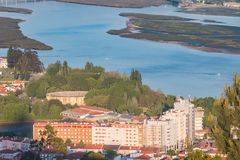 Aerial view of the  city Viana do Castelo in northern Portugal Royalty Free Stock Images