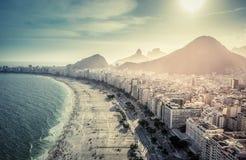 Aerial view of famous Copacabana Beach in Rio de Janeiro Stock Image