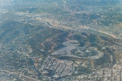 Aerial view of the famous Dodger Stadium. At Los Angeles, California royalty free stock photos