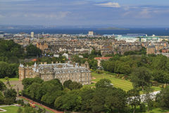 Aerial view of the famous Palace of Holyroodhouse Stock Images