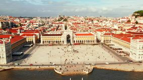 Aerial view of the famous Praca do Comercio Commerce Square