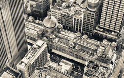 Aerial view of famous shopping mall around Sydney CBD Stock Image