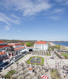 Aerial view of famous spa resort at the seaside, Sopot, Poland Royalty Free Stock Photos