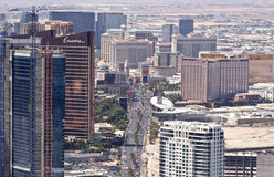 Aerial View of the Famous Strip, Las Vegas Royalty Free Stock Images