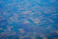 Aerial view of farm Stock Photo