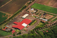 Aerial view of farm fields in Costa Rica Stock Images