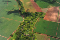 Aerial view of farm fields in Costa Rica Stock Photography