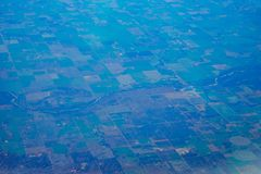 Aerial view of farm Royalty Free Stock Photography