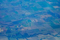 Aerial view of farm Royalty Free Stock Image
