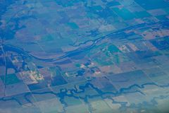 Aerial view of farm Stock Images
