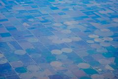 Aerial view of farm Stock Photography