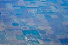Aerial view of farm Stock Photos