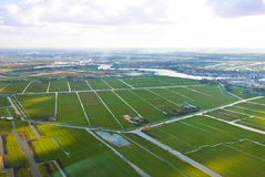 Aerial view farmland Stock Photos