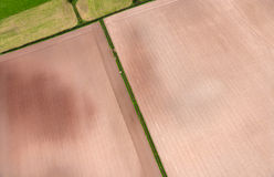 Aerial view of Farmland Royalty Free Stock Image