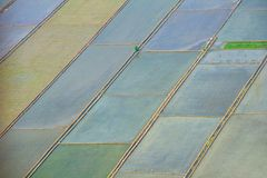 Aerial view of farmland Stock Photography