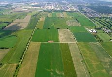 Aerial View of Farmland Stock Image