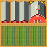Aerial view of farmland and crops Royalty Free Stock Photo