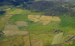 Aerial view of Farmland Royalty Free Stock Photography