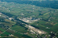 Aerial view of Farmland. An aerial view of farmland in Lancaster County, Pennsylvania Stock Photo