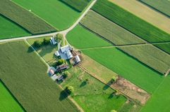 Farm From Above. An aerial view of farmland in Lancaster County, Pennsylvania Royalty Free Stock Image