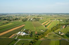 Straight Fields from Above Royalty Free Stock Photo