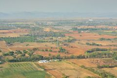 Aerial view of farmland Stock Photo