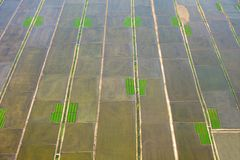 Aerial view of farmland Royalty Free Stock Images