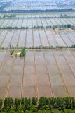 Aerial view of farmland Stock Image
